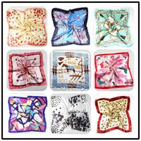 Wholesale Fashion Women Square Silk Scarf Satin Printed cm Fashion Spring And Autumn Chinese Silk Scarves Cheap