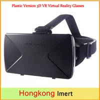 Wholesale 2016 VR Box Mount Plastic Version D VR Virtual Reality Glasses Google Cardboard Movies Games for to inch Smartphone