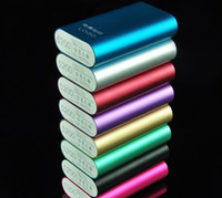 bank lot - NEW HOT Custom LOGO Phone Portable Battery Universal charger Universal Powerbanks mah Power Bank