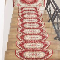 Wholesale Luxury Anti slip Stick Staircase Europe Kilim Floral Classic Floor Carpet Stair Mats Rugs for Home Treads Stepping Pad