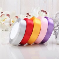 army cloth belts - Solid Color CM Satin Ribbon Belt Gift Packing Wedding Decoration yards Roll Colors Wedding Supplies