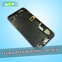 Wholesale 10 pieces For iPhone Plus Black Gold Housing With Flex Cables Back Cover Middle Frame Chassis inch With LOGO Sim Tray Buttons