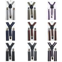 Wholesale Stripes Baby Boys Children Clip on Suspender Y Back Child Elastic Suspenders Y