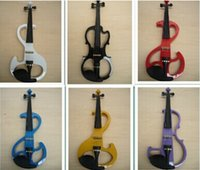 Wholesale High quality styles White violin Electric Violin violin wood Mahogany material colors violino eletrico
