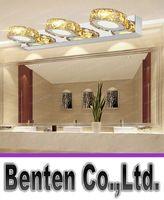 bathroom cabinet knobs - Modern K9 Crystal LED Bathroom Make up Mirror Light Cool White Wall Sconces Lamp v stainless steel cabinet vanity lighting LLFA