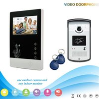 Wholesale XSL V43D11 ID V1 XINSILU Manufacturer Inch Home Security Video Door Phone support Rf ID Unlocking with electronic lock