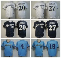baseball robin - 2016 Milwaukee Brewers Robin Yount Baseball Jerseys Game Sports Jonathan Lucroy Carlos Gomez Throwback Navy Blue White Best Quality