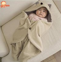 Wholesale 2016 Hot Sale Baby Robes Bathrobe Multifunction Infant Baby Swaddling Fleece Warm Receiving Blanket Wrap Newborn Sleeping Bag