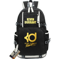 Wholesale Kevin Durant BACKPACK luminous bronzing Version basketball bags KD LOGO computer bag high school students bags