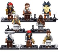 baby sparrows - 8pcs set Pirates of the Caribbean Captain Jack Sparrow Minifigures Building Blocks Baby Brick toy Kids Gift Bricks Blocks