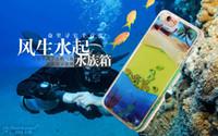 aquarium covers - High Quality Liquid Dynamic Aquarium Colorful Fish Clear Hard Shockproof Protective Cover Case For iPhone Plus s Plus