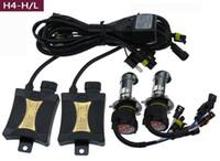 achat en gros de kit ampoule h4-US Stock! 55W Xenon HID Conversion Phare KIT voiture Ampoules à LED Lumières H1 H4 H7 H10 / 9005 9006 4300K 6000k