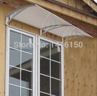 Wholesale DS120240 P x240cm Depth cm Width cm withstand high heat engineering plastic frame UV coat polycarbonate sheet window door awning