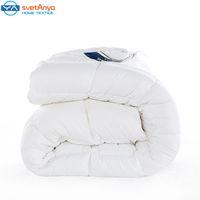achat en gros de queen size de couverture douce-Svetanya simples tissu polyester solide couette impression d'hiver courtepointe de couette Double / Full / Reine / Roi couvertures Taille d'hiver