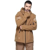 Wholesale Double Layer Thicken Tactical Fleece Jacket Warm Men s Plush Fleece Coat Hiking Trekking Camping Montain Travel Hunting