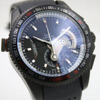 big belts - High Quality mens watch Quartz wristwatch Men Chronograph Black Big Dial stopwatch Rubber Belt Grand Calibre watch