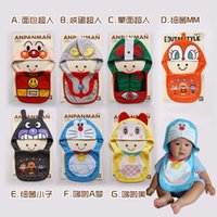 baby dickies - Baby Girls Boys Cotton Brand Top Cap And Bib Infant Cartoon Saliva Towel Toddle Dicky Feeding Sets Children Pinny Kids Burp Cloths FS P01