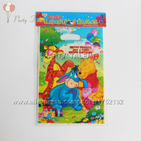 Wholesale Party supplies Winnie the pooh theme party party decoration PVC gift bag candy bag cartoon pattern