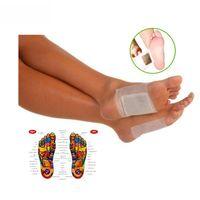 bamboo foot massage - 50pcs Kinoki Detox Foot Pad Patch Massage Relaxation Bamboo Pain Relief Tens Help Sleep Body Neck Feet Care Massager C032