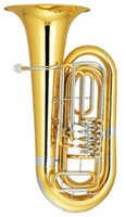Wholesale 3 Tuba Four Rotary valve Height mm with ABS Case Brass Wind Musical instruments EMS