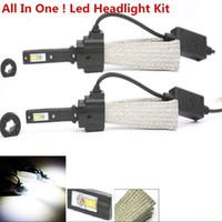 al por mayor kit de automóviles-1Set impermeable 40W H4 Hi / lo 6000k-6500k 3200LM Cree luces LED coche de estilo lámparas de niebla automóviles blancos automóviles kit de conversión