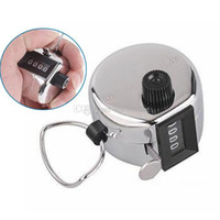 Wholesale Portable Digital Chrome Hand Tally Clicker Counter Digit Number Golf B00214 SMAD