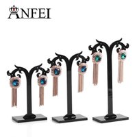 Wholesale Hot selling Earrings display Holder earrings display rack horns shape earring display stand jewelry display holder sizes a set