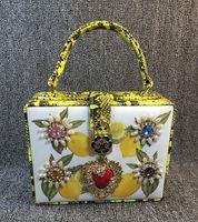 Cheap acrylic custom handbag Best white, yellow, red 19 * 15 * 7 handbag bag