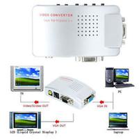 Nouveau VGA à la TV RCA Composite S-Video Convertisseur Splitter Box pour PC Ordinateur Portable GSCP2198