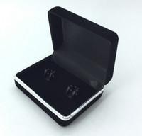 Wholesale 2016 Hot New Promotion Black Velvet Cufflink Box Tie Clip Box Best Gift Box For Cufflinks High Quality