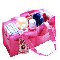 Wholesale MultiFunctional Portable Women Mummy Bag Non woven Inner Storange for Mother HandBag Lovely Travel Nappy Diaper Bag Blue Pink