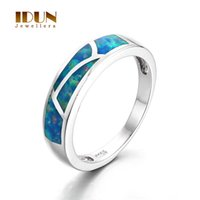 aquamarine and silver rings - 925 sterling silver ring Aquamarine round Opal jewelry fashion wedding ring for male and female Fine Jewelry FR358