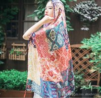 fashion in turkey - 2016new Turkey wet Extension draw the hand painted flowers in the spring autumn and the cotton scarf The summer Prevent bask in shawls