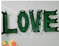 Cheap wedding decoration LOVE plastic suction car decoration materials letters wedding flowers to decorate bridal shop supplies