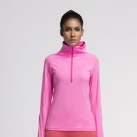 Wholesale Women running jacket coat compression tights sports fitness exercise shirt jerseys clothes gym long sleeve jacket