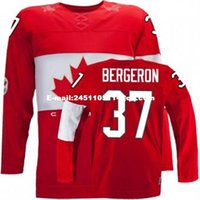 Cheap Retro throwback #37 PATRICE BERGERON Team Canada Jersey OLYMPIC HOCKEY Fast free shipping Customize any size player name number