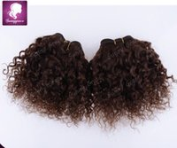 bebe natural hair - Brazilian human hair extension hair weave noble BEBE CURL inch dark brown best quality