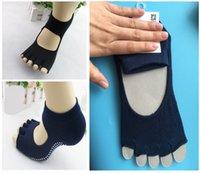 Cheap Professional Yoga Socks Anti Slip Rubber Dots Sports Indoor Exercise Socks Latex Pilates Socks Deodorant Breathable Socks E694L
