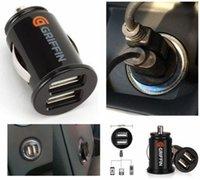 Wholesale Car Charger Mini USB Dual Port Twin V Universal Adapter Black