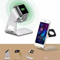 Wholesale Aluminum Universal Charging phone Stand Charger Dock Holder For Apple Watch iPhone S Plus iPad Samsung Galaxy Sony cell phone stand