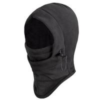 Wholesale 2 Winter Windproof Sport Face Masks Ski Motorbike Biker Gear Black Masks Unisex Hood Hats Cycling Caps