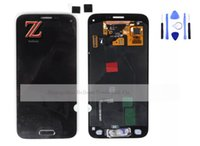 Wholesale tested G800 LCD for samsung galaxy s5 mini lcd display touch screen digitizer assembly with home button black white