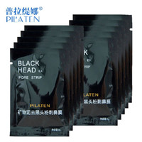 Wholesale 3000pcs Black mask PILATEN face mask Tearing style Deep Cleansing New oil skin Acne remover strawberry nose black mud masks g