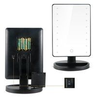 Wholesale Good quality one piece LED Lighted Makeup Mirror Degree Free Rotation Touch Screen