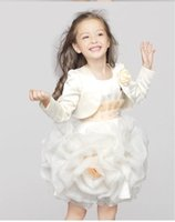 Wholesale 2016 New Princess Little Girls Pageant Capes For Girls and Girls Jackets with Flower Kids Accessories For Wedding L1540