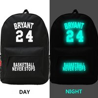 james brown basketball - Basketball all stars Lake Kobe Bryant backpacks night luminous cavalier LeBron James sports bags waterproof outdoor packs mochila