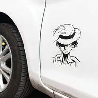 Wholesale Cartoon Anime Stickers One Piece Monkey D Luffy Stickers cm Car Body Styling Stickers and Decals