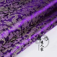 baby clothing fabric - Brocade cloth costume antique Chinese clothing baby clothing clothing COS fabric fabrics brocade gold on purple dragon
