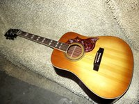 Wholesale Sunburst Lemon Acoustic Guitar Mahogany body OEM guitar