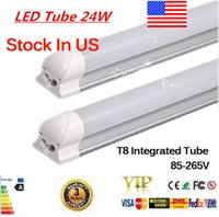 Wholesale LED Bulbs Tubes T8 mm W Feet Led Integrated Tube Light FT AC85 V G13 SMD2835 Led lights Super Bright lm